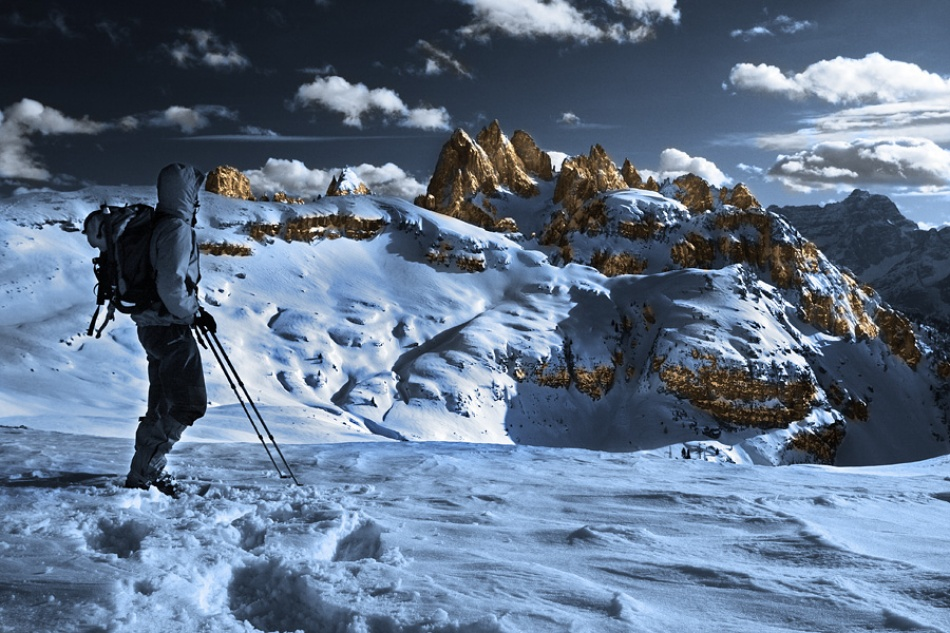 A piece of fine art art photography titled The Gold Rush Peaks by Paolo Ordigoni