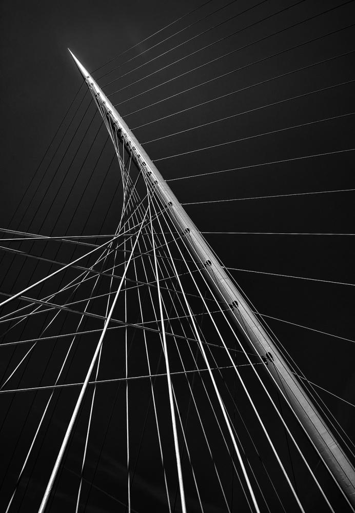 A piece of fine art art photography titled Calatrava's Citer Music II by Jef Van den Houte