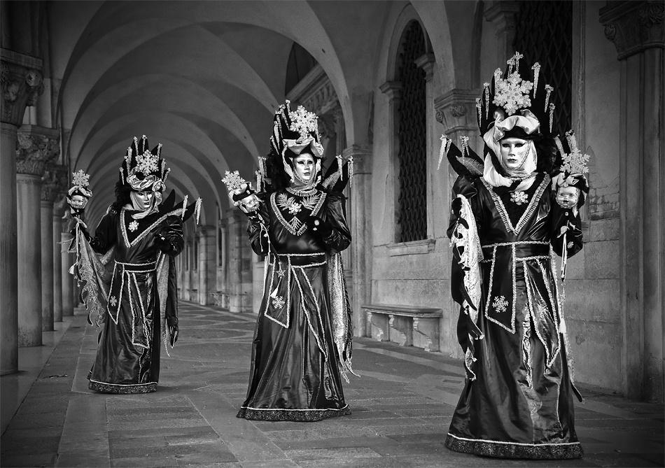 A piece of fine art art photography titled Carnival Triplets by Stefan Nielsen