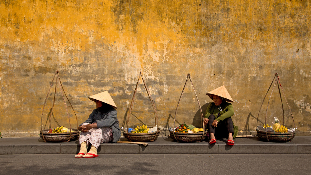 View this piece of fine art photography titled Take A Rest At The Yellow Wall by Reinhard Gaemlich