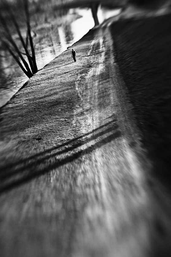 A piece of fine art art photography titled Walk Around the River by Michal Szydlowski