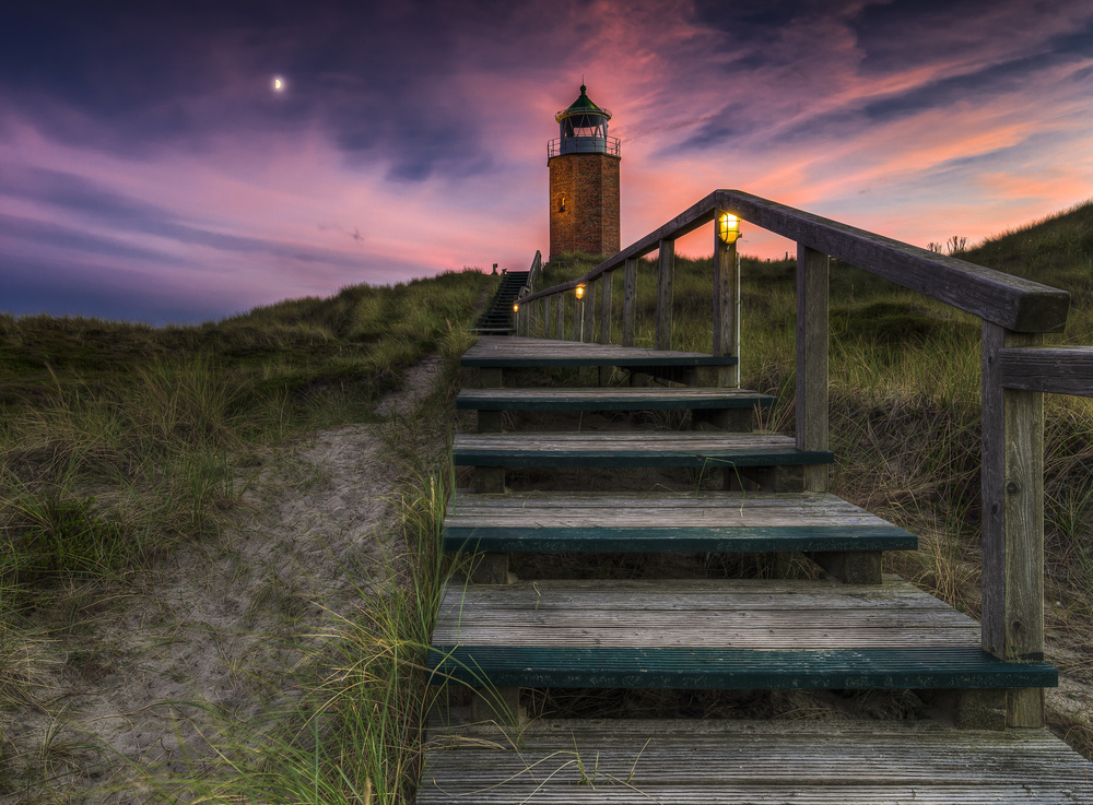 A piece of fine art art photography titled Way to Lighthouse by Thomas Siegel