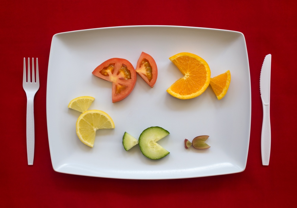 A piece of fine art art photography titled Food Chain by Jacqueline Hammer