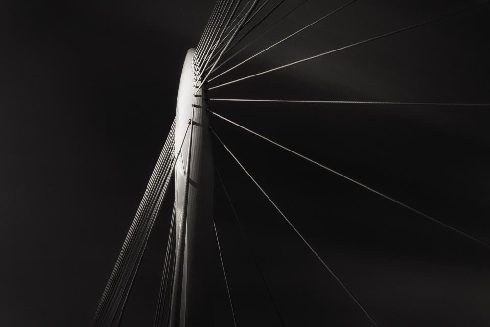 A piece of fine art art photography titled Prinz Claus Brug Study I by Andreas Paehge