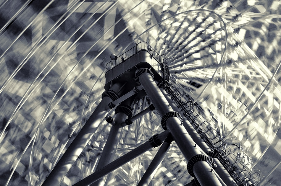 A piece of fine art art photography titled The Ferris Wheel by Takashi