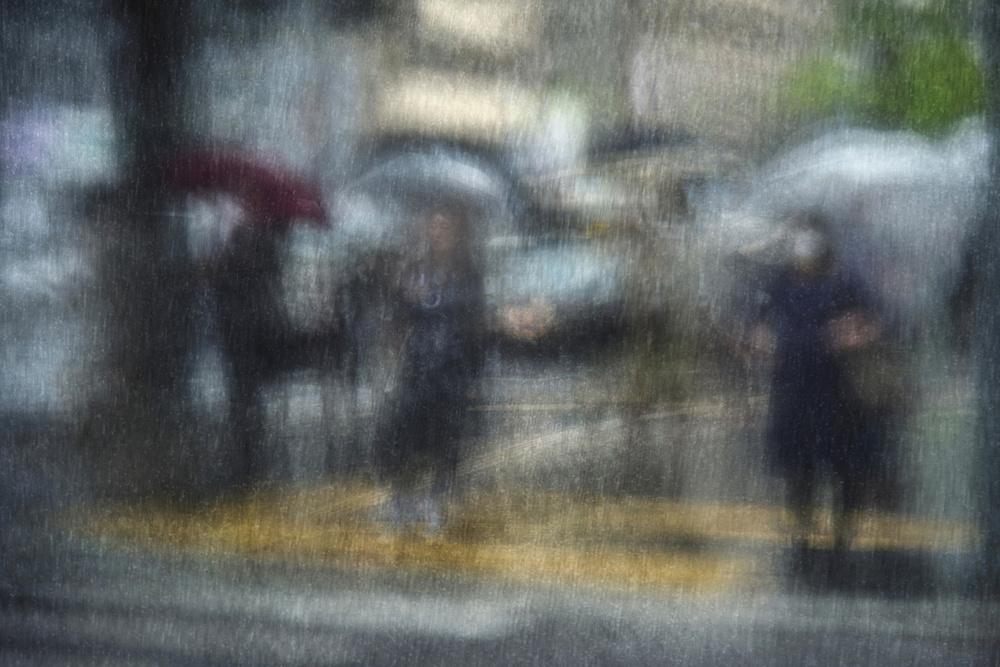 A piece of fine art art photography titled Rainy Day In the City by Ekkachai Khemkum