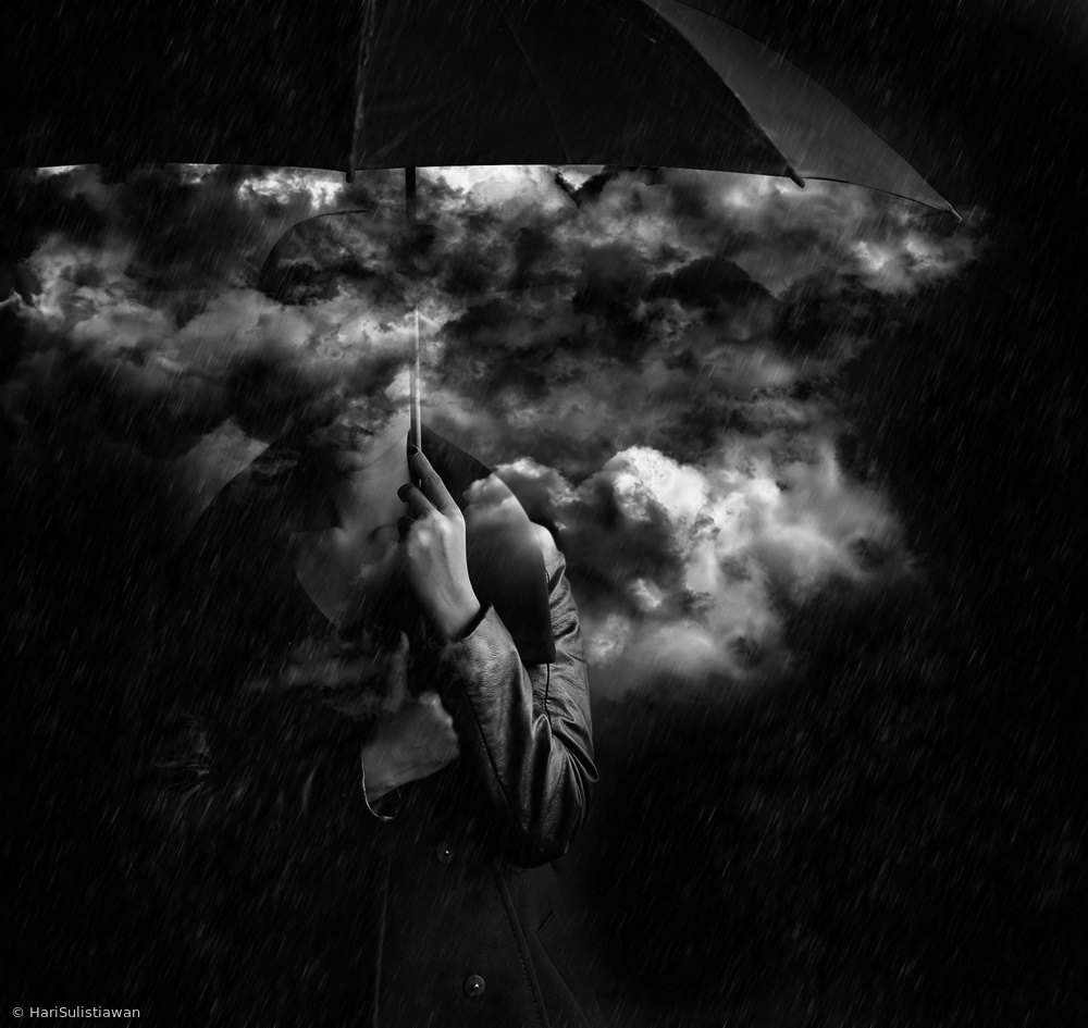 View this piece of fine art photography titled my darkness is as dark as my cloud by Hari Sulistiawan