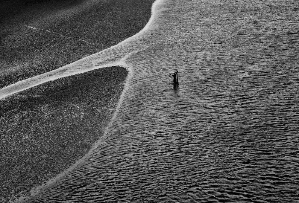 A piece of fine art art photography titled River Line by Avishek Das