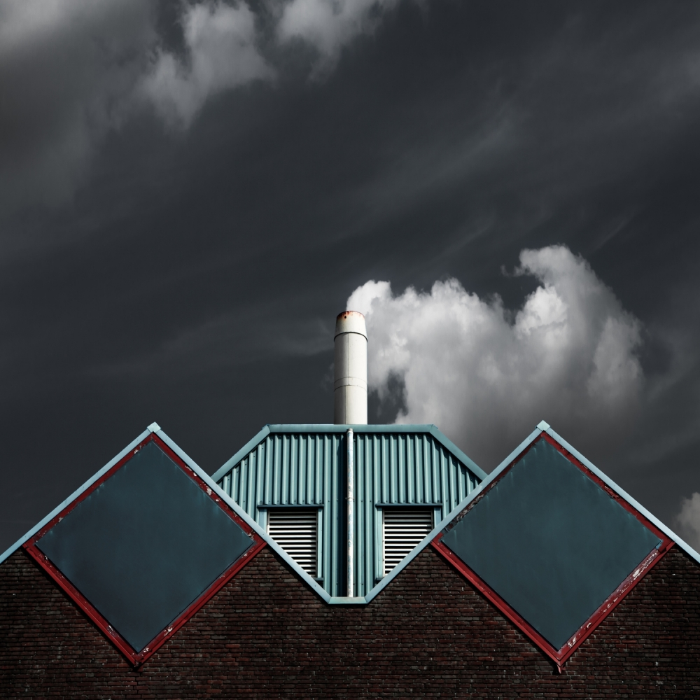 A piece of fine art art photography titled The Cloud Factory by Gilbert Claes