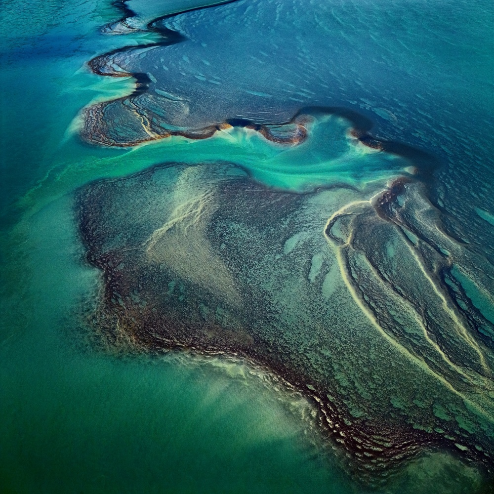 A piece of fine art art photography titled Montgomery Reef by Sheldon Pettit