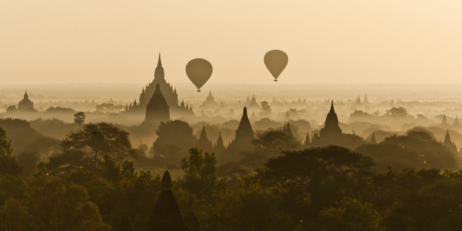 A piece of fine art art photography titled Bagan Wake Up by Michel David