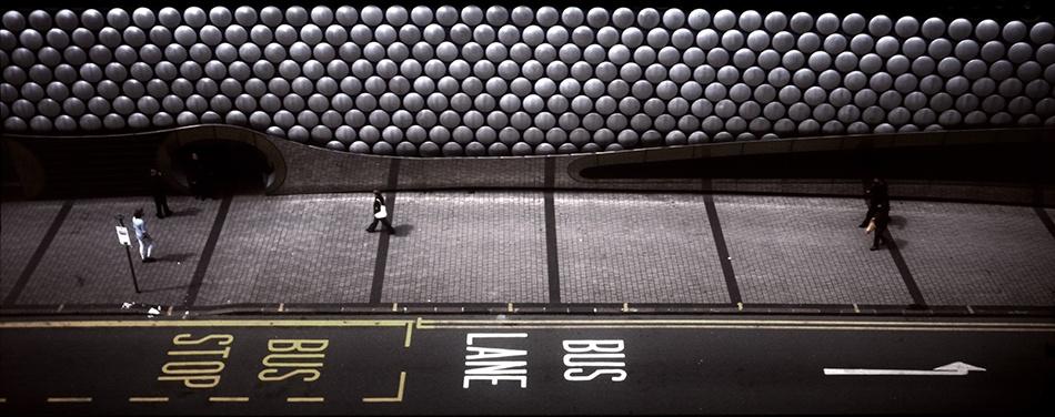 A piece of fine art art photography titled Bus Lane by Ian James