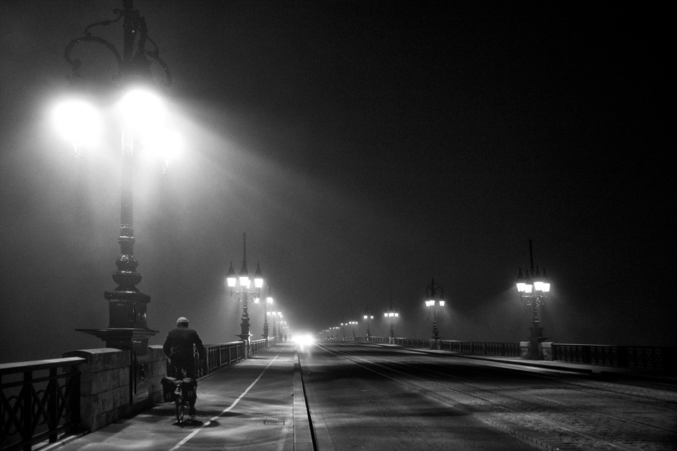 A piece of fine art art photography titled A Walk In the Night by Magali Kermaïdic