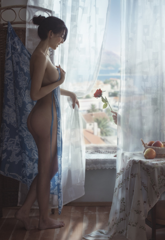 A piece of fine art art photography titled Rose by David Dubnitskiy