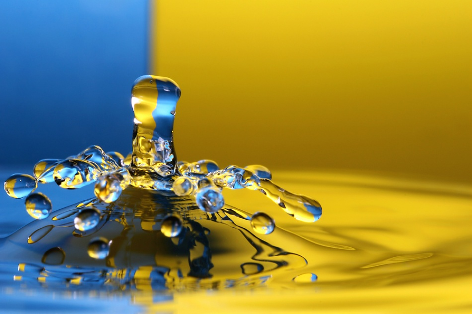 A piece of fine art art photography titled Drop by Th Block