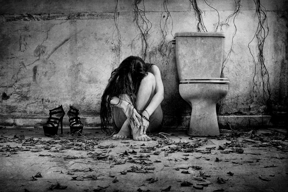 A piece of fine art art photography titled The Sorrow by Joey Bangun