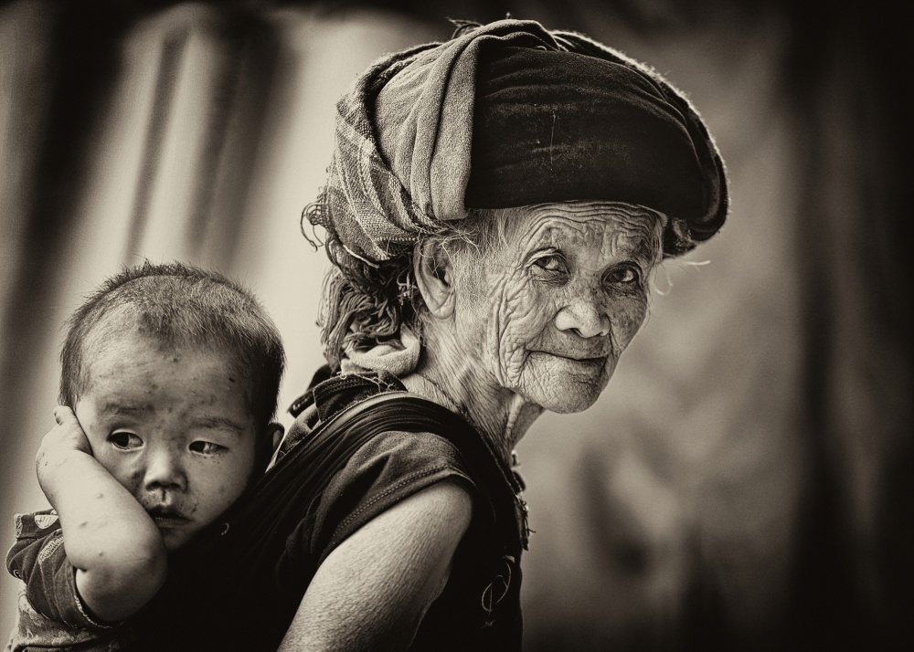 A piece of fine art art photography titled My Grandma by John Moulds