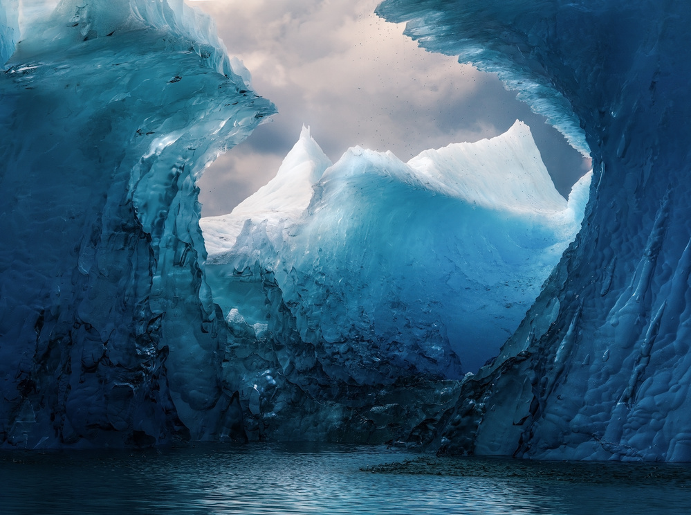 A piece of fine art art photography titled Icy Peaks by Weihao Pan