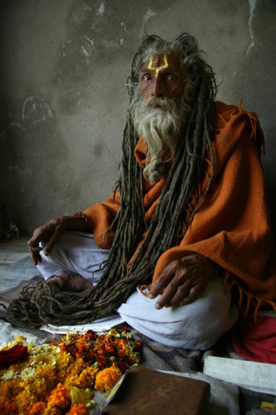 A piece of fine art art photography titled Sadhu by sasson haviv