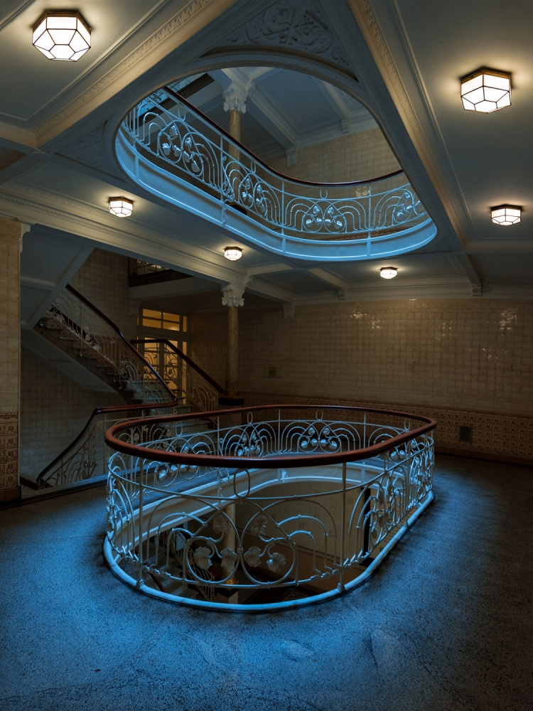 A piece of fine art art photography titled The Staircase I (V2) by Harry Lieber