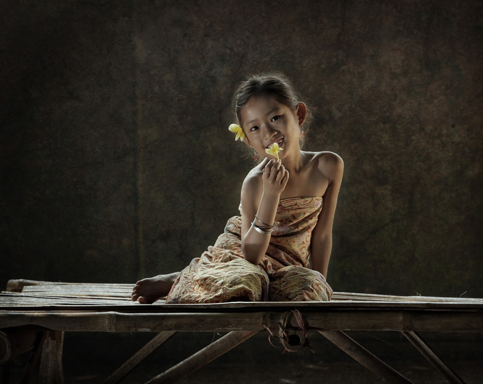 A piece of fine art art photography titled Little Girl by Dedi Junaedi