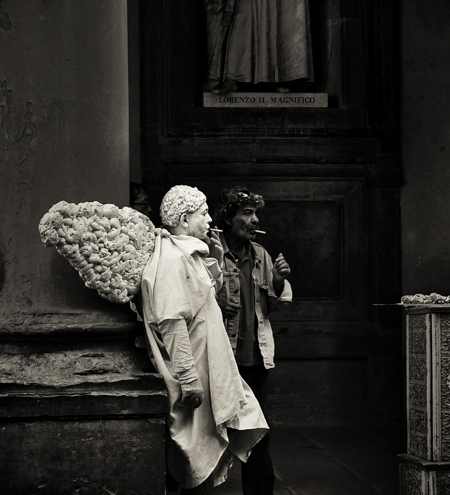 A piece of fine art art photography titled Guardian Angel by Maciej Sokal