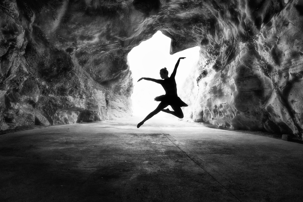 A piece of fine art art photography titled Classic Jump by Osher Partovi