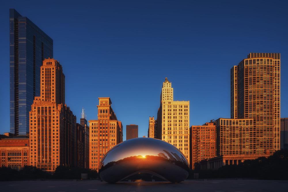 A piece of fine art art photography titled Chicago City by Iván Ferrero