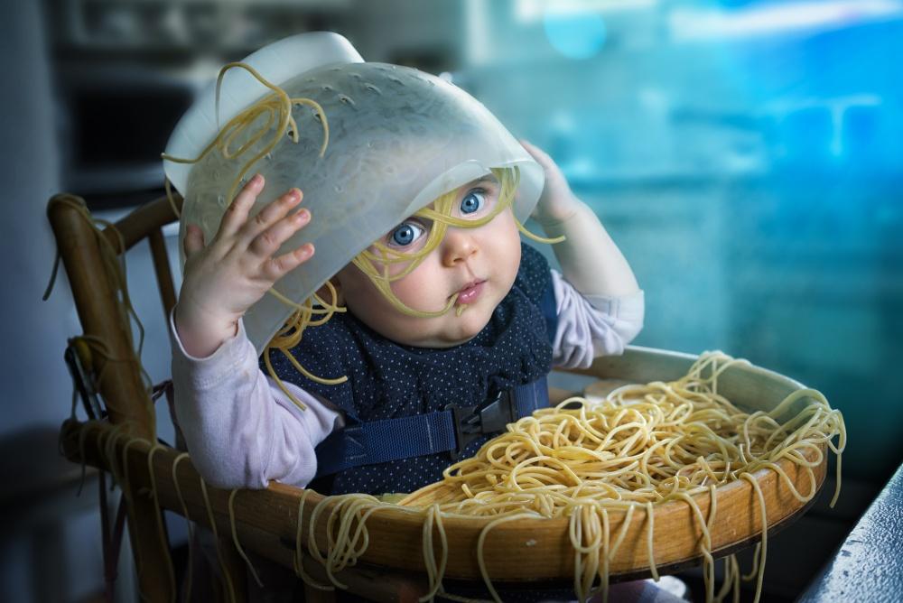 A piece of fine art art photography titled Spaghettitime by John Wilhelm