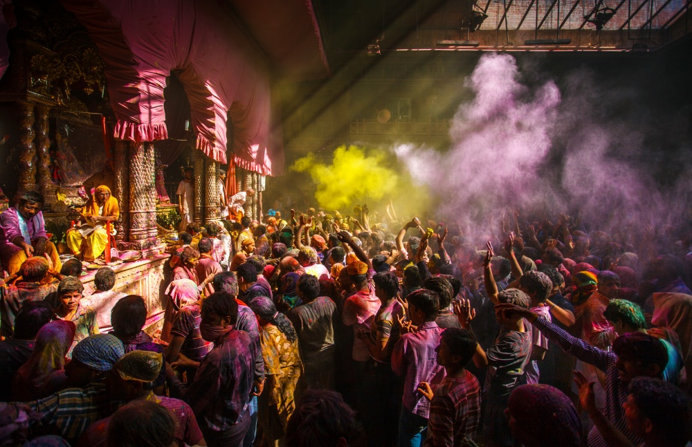 A piece of fine art art photography titled Holi by Fadhel Almutaghawi