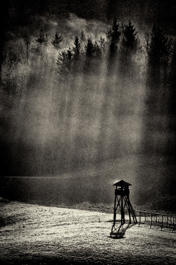 A piece of fine art art photography titled House On Hunting Hill by Dare Turnsek