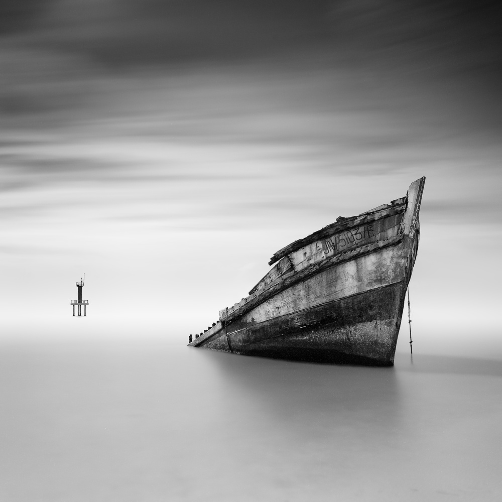 A piece of fine art art photography titled The Shipwreck & Beacon by Patricia Soon