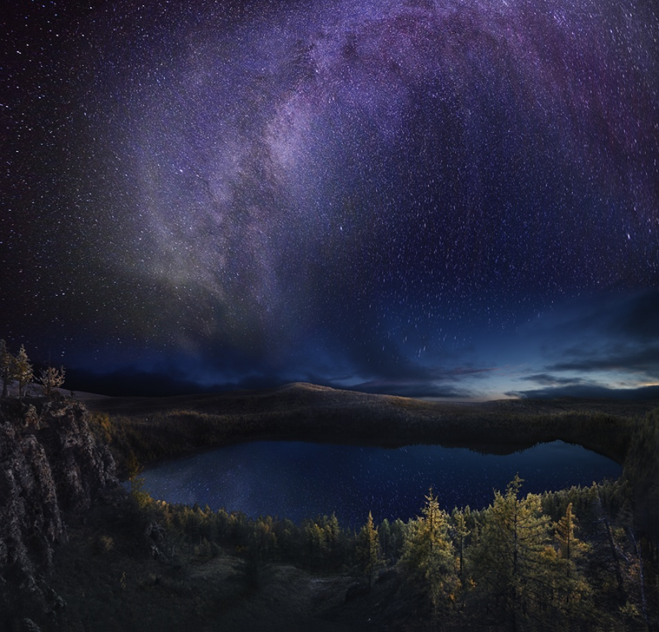 A piece of fine art art photography titled Blooming Milky Way by eleven