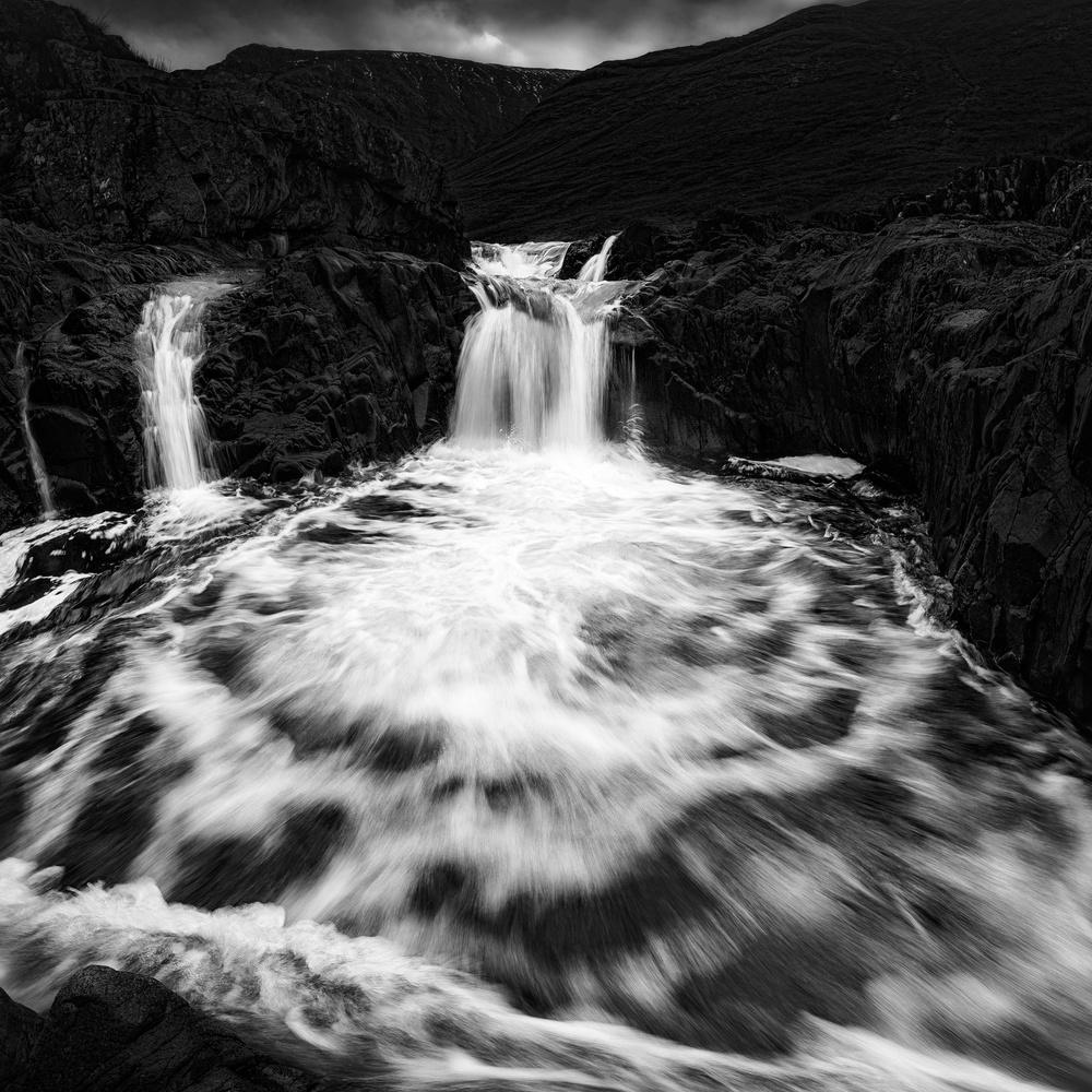 A piece of fine art art photography titled River Etive Cascades by Matt Anderson