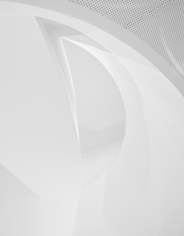 A piece of fine art art photography titled Shapes In White by Greetje van Son