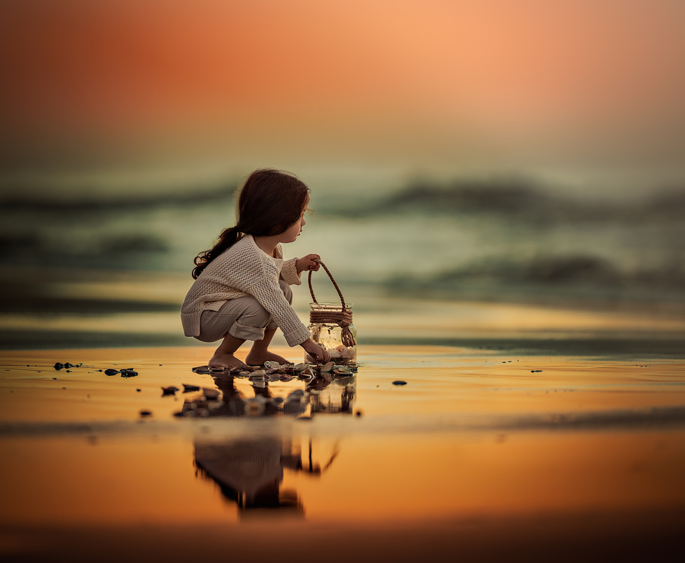 A piece of fine art art photography titled Breathe In the Ocean by Lilia Alvarado
