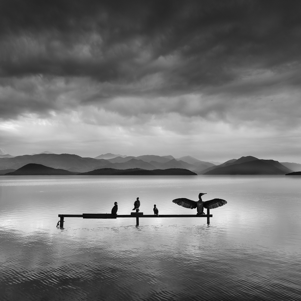 A piece of fine art art photography titled Distant Mountains by George Digalakis