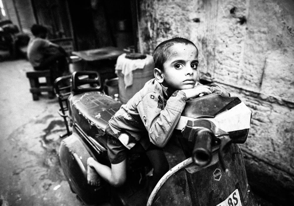 a boy in India