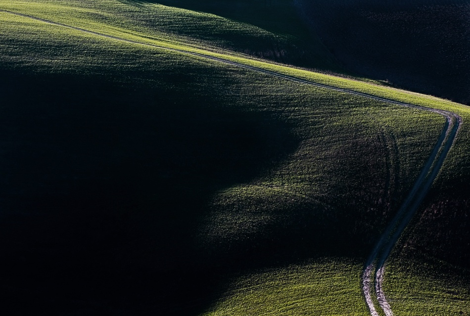 A piece of fine art art photography titled The Road by andrea lorenzetti