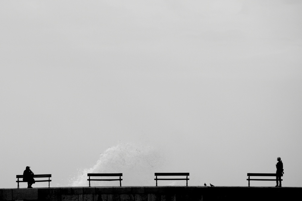 A piece of fine art art photography titled On the Breakwater by Simun Ascic