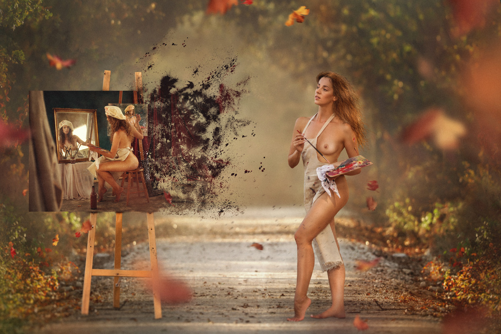 A piece of fine art art photography titled Painter by Evgeny Loza