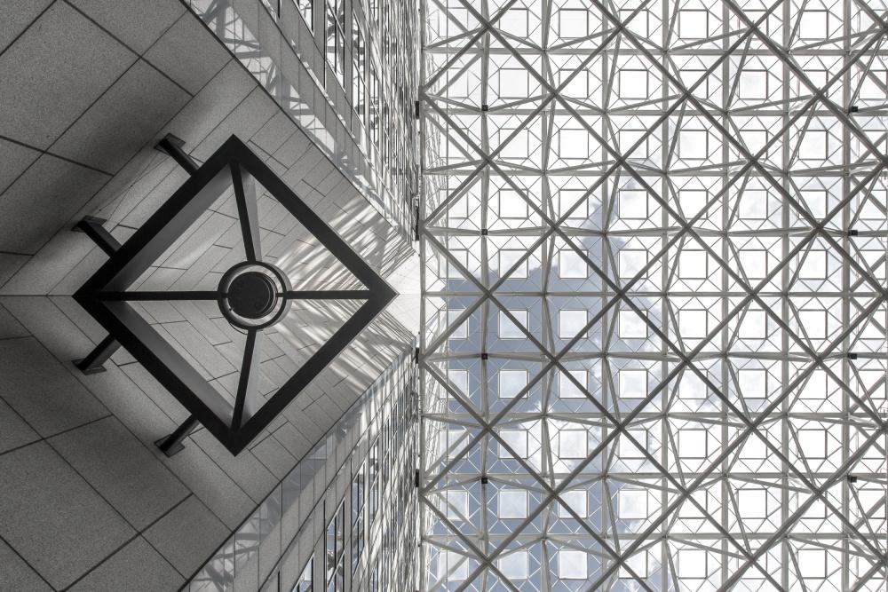 A piece of fine art art photography titled Symmetric Sky by Michel Guyot
