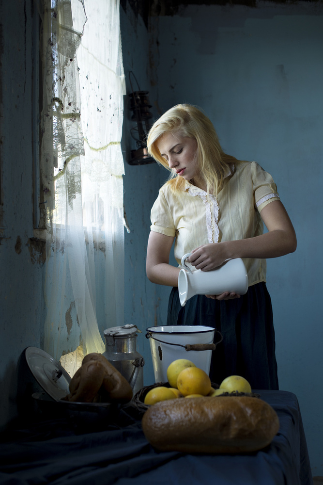 A piece of fine art art photography titled The Milkmaid by E.Amer
