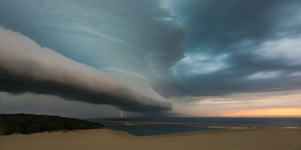 A piece of fine art art photography titled Epic Storm by Pierre Destribats