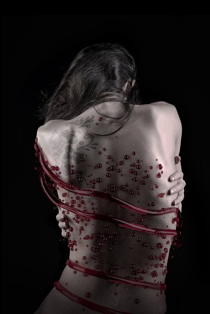 A piece of fine art art photography titled Tight In Blood by Alexandre Brouzes
