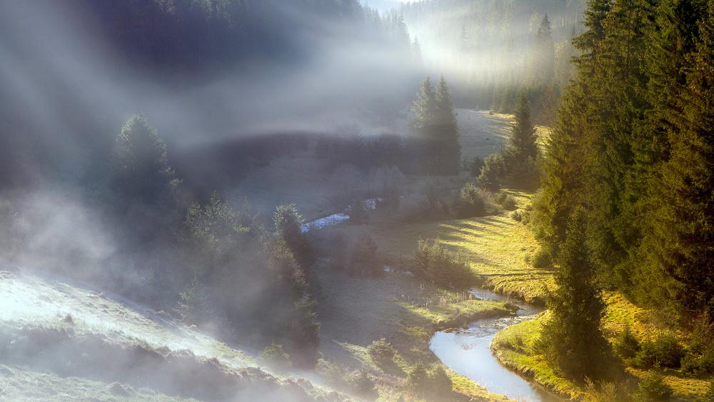 A piece of fine art art photography titled A Foggy Morning by Frantisek Zvonecek