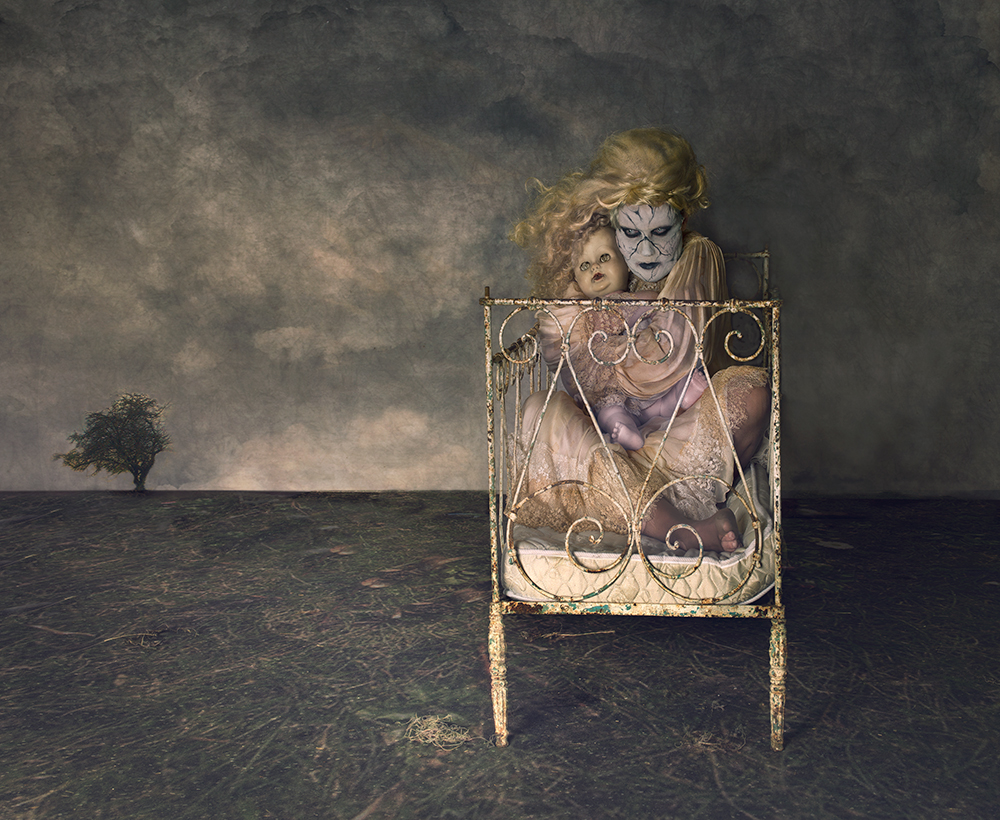 A piece of fine art art photography titled Creepy Doll by Peter Kemp