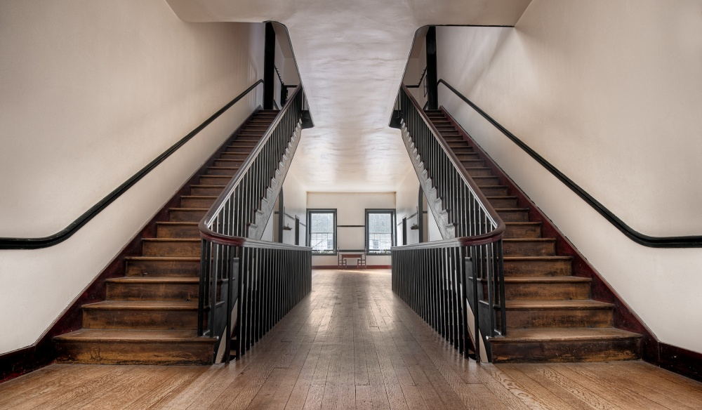 A piece of fine art art photography titled Shaker Staircase by James Haverstock