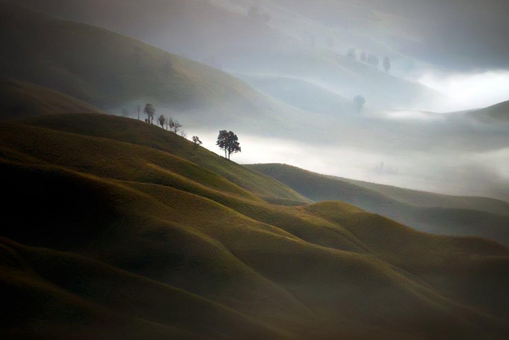 A piece of fine art art photography titled Lembah Jemplang by Dwi Yin Istinov