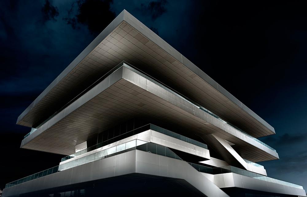 A piece of fine art art photography titled Magic Building by Erhard Batzdorf
